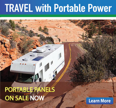 The Solar Store provides Portable Solar Panels for RV's, Camping and Emergency use.