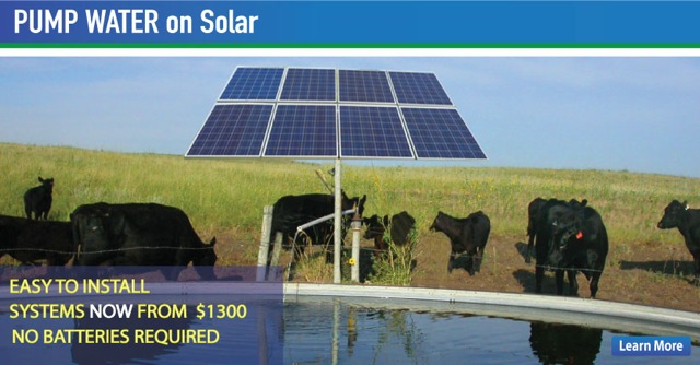 The Solar Store provides Solar water pumping systems for wells, home, livestock, irrigation custom designed for your needs.