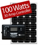 Zamp Solar 100W RV kit ZS-100-30A 100 Watt Kit/30 Amp Controller