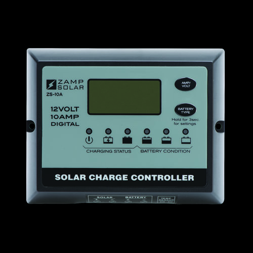 Zamp Solar 10-Amp All Weather - Digital Display - 5-Stage Smart Controller ZS-10