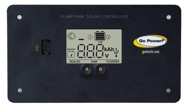 Go Power! 10 AMP FLUSH-MOUNTED DIGITAL SOLAR CONTROLLER