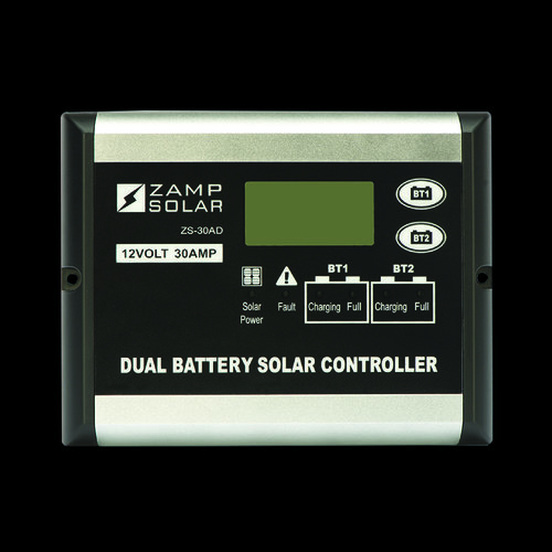 Zamp Solar 30-Amp DUAL BATTERY BANK, Indoor Only, Digital Display - 5-Stage Smar