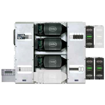 Pre-wired triple-inverter FM100 system, 10.8 kW 120/208 3Ø VAC, 48 VDC
