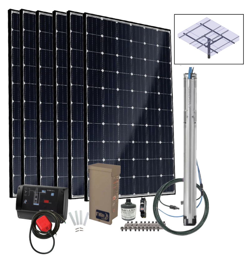 Grundfos SQFlex Pre-designed Solar Water Pumping Kit using 40 sqf-4 pump 70 to 3