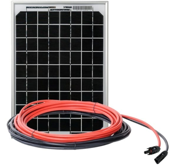 GP-ECO-10: 10 WATT / 0.6 AMP SOLAR CHARGING KIT