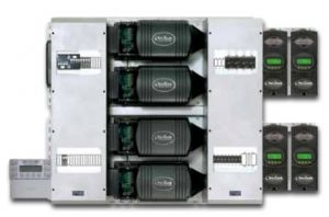 Pre-wired quad-inverter FM80 system, 12.0 kW 120/240 VAC, 48 VDC