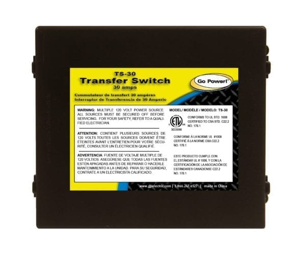 Go Power! 30 amp Transfer Switch