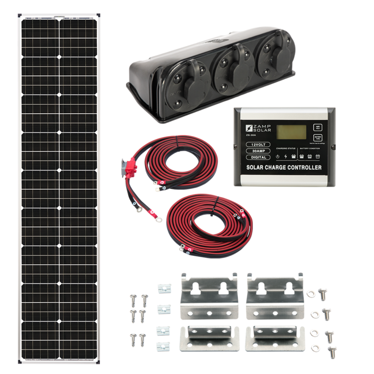 "Zamp Solar US 90-Watt ""L""ong Series Deluxe Kit"