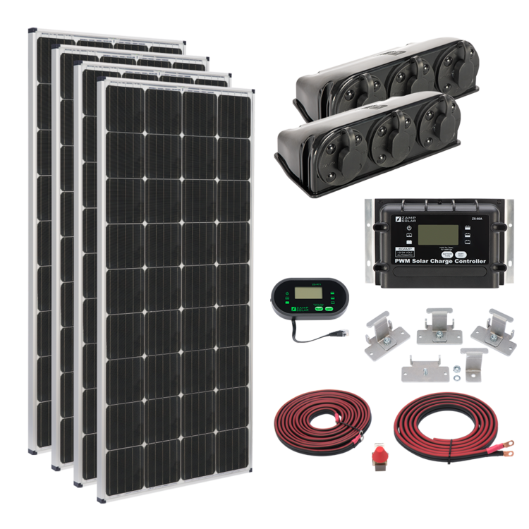 Zamp Solar Us 680 Watt Deluxe Kit
