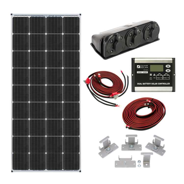 Zamp Solar US 170-Watt Dual Battery Deluxe Kit