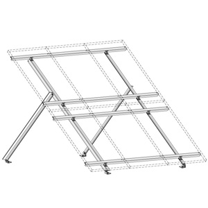 DP-TTRGM8-REC210 8x REC215w Two Tier Ground Mount