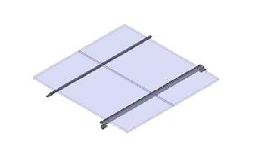 General Specialties RV Rails for 2 panels over 300W