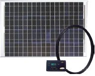 GP-RV-50 Go-Power! 50 Watt Solar RV Kit With Digital Charge Controller Regulator