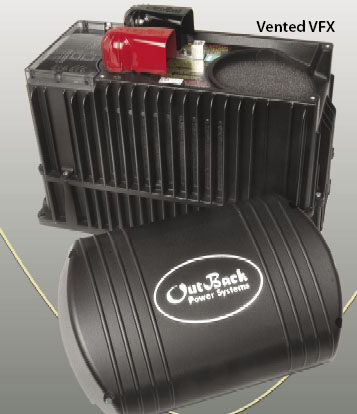 Outback VFX3524  Off Grid Inverter Charger, 3500 Watt, 24 Volts 120 VAC/60 Hz Vented