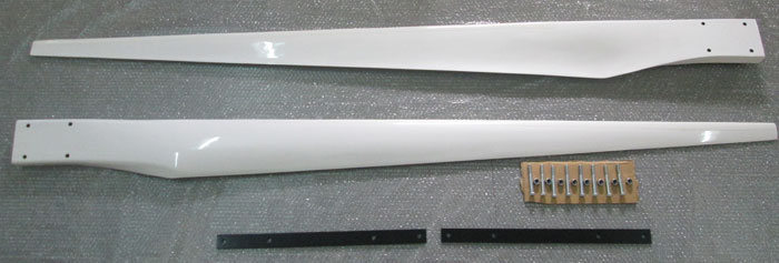 Southwest Windpower Whisper 500 Replacement Blade Set with Blade Strap & Fastner