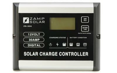 Zamp RV Solar Charge Controller 30A 12V Flush Mount