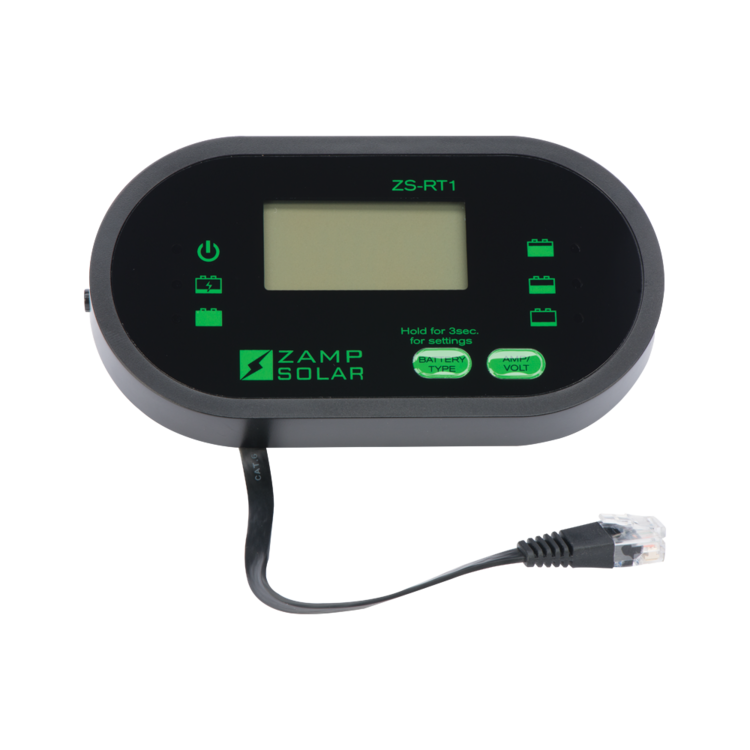 Zamp Solar Digital LCD indoor wired remote display battery monitor ZS-RT1