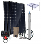 Grundfos SQFlex Pre-designed Solar Water Pumping Kit using 25 sqf-3 pump 40 to 28 gpm, 7 to 50 feet lift