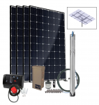 Grundfos SQFlex Pre-designed Solar Water Pumping Kit using 25 sqf-7 pump 36 to 12 gpm, 35 to 185 feet lift