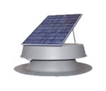 Natural Light Solar Attic Fan with 30w Remote Panel