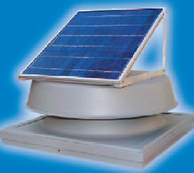 Natural Light Commercial Curb Solar Attic Fan 10w
