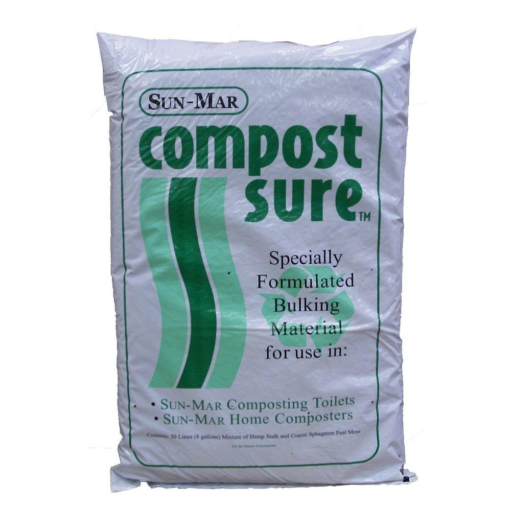 Sun-Mar CompostSure GREEN Composting Accelerator for Waterless Systems - 5 Bags