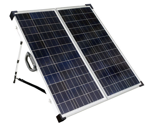 SolarLand 130w 12v Portable Foldable Solar Panel Charging Kit SLP130F-12S