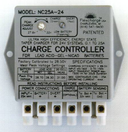 Flexcharge NC25A 36v Ultra High Efficiency Charge Controller (Regulator)
