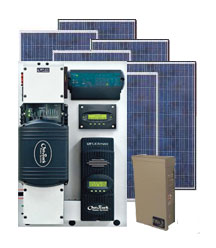 3060W Outback Flexpower Off-Grid Pre-Designed Solar Electric System