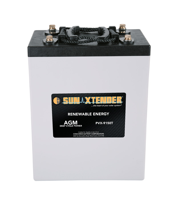 Concorde SunXtender PVX-9150T AGM Deep Cycle Solar Battery 2v 915 AH (24hr)