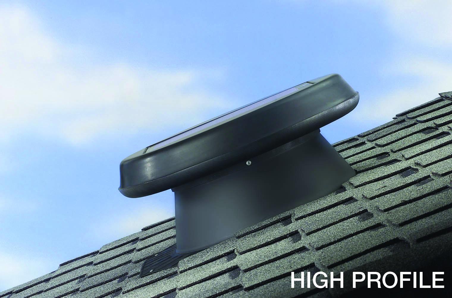 Solar Star Roof Attic Solar Fan Vent High Profile Model