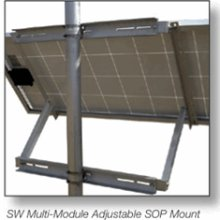 "Sunwize Universal Side-of-Pole Multi-Module Mount, 80"" Rail Length 4-6"" Pole"
