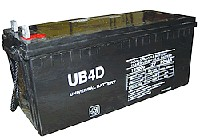 UPG UB-4D AGM Sealed Lead Acid (AGM) Battery- 12 volt 200 amps