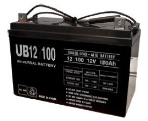 UPG UB121000 AGM Sealed Lead Acid (AGM) Battery- 12 volt 100 amps
