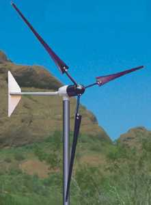 Southwest Windpower 1000 Watt Whisper 200 Wind Generator 120 volt w/ Charge Controller and Display