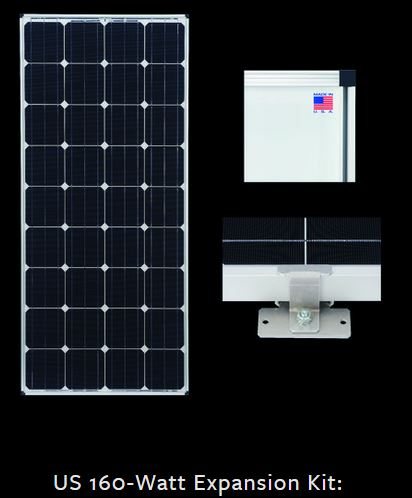 Zamp Solar ZS-US-EX-160-DX 160 Watt RV Expansion Kit