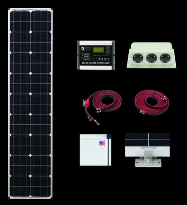 Zamp Solar 80 Watt 30 Amp Solar Airstream Rv Kit Zs Us 80l