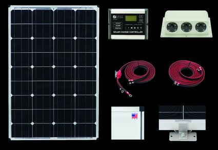 Zamp Solar 100W RV kit ZS-US-100-30A-DX 100 Watt Deluxe Kit/30 Amp Controller