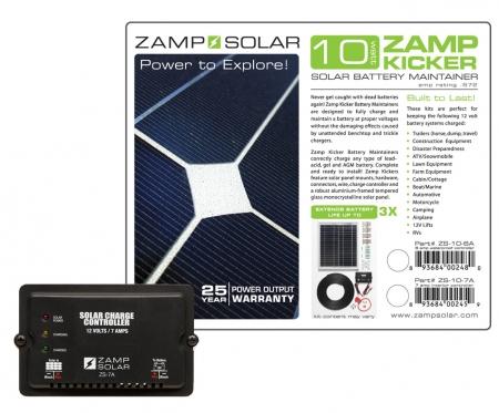 Zamp Solar 10w Battery Maintainer Kicker W 7a Charge